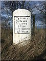 NY2749 : Old Milestone by the A596, east of Wigton by CF Smith