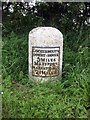 NY0635 : Old Milestone by the A594, south of Dearham by CF Smith