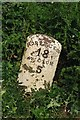 NY1845 : Old Milestone by the unclassified road, north west of Sandraw Bridge by CF Smith