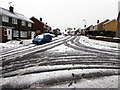 ST3090 : Snowy junction in Malpas, Newport by Jaggery