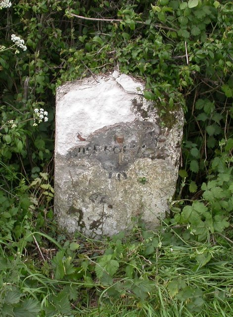 Old Milestone by the UC road, north east of Cerne Abbas
