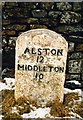 NY8234 : Old Milestone by the B6277, Rough Rigg by C Minto & IA Davison