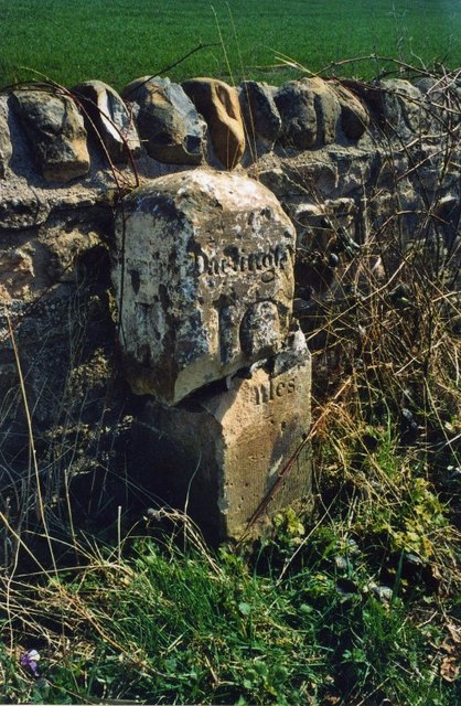 Old Milestone near Spinkford Bridge