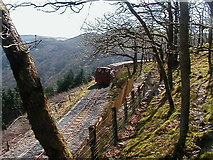 SN7377 : Train approaching the Coed Tynycastell foot crossing by John Lucas