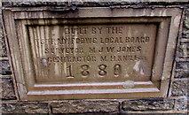 SS9992 : 1880 plaque on a De Winton Street wall, Tonypandy by Jaggery