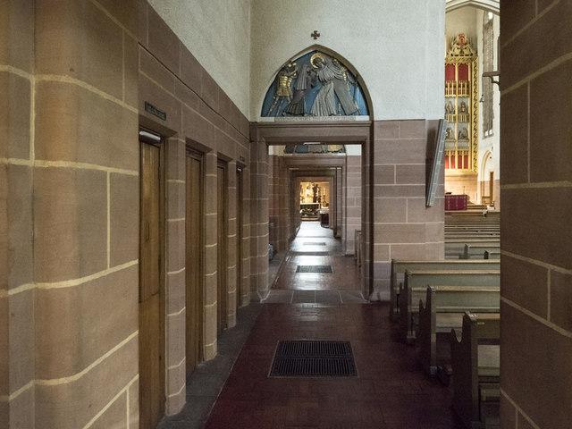Our Lady of Mount Carmel & St Simon Stock, Kensington - North passage aisle