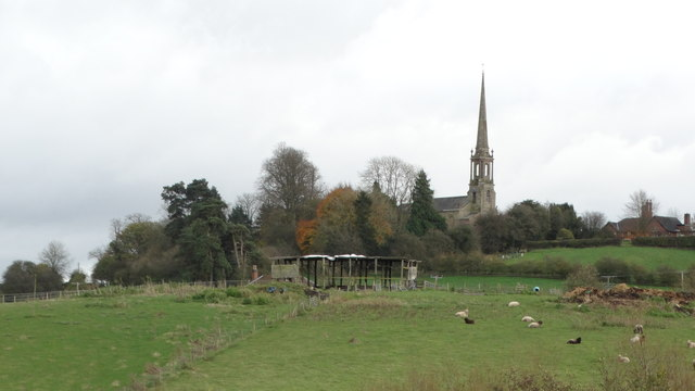 Tardebigge - St Bartholomew's Church as seen from Dusthouse Ln