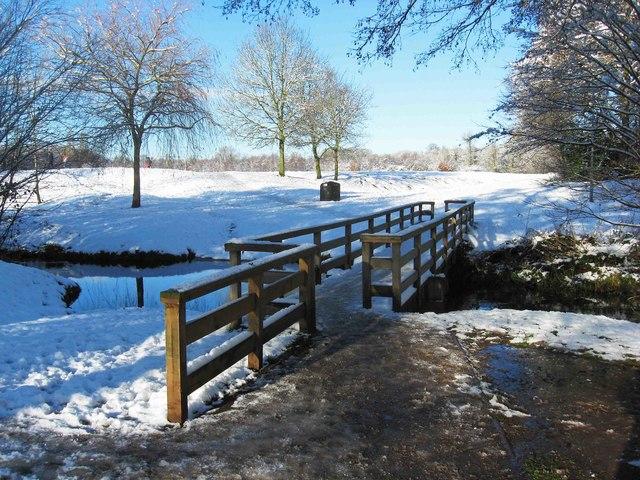 Footbridge over Blake Brook, Springfield Park, Kidderminster