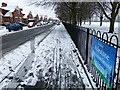 SK5801 : Icy pavement along Copinger Road, Leicester by Mat Fascione