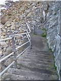 SW3526 : Steps leading down to the beach by Rod Allday