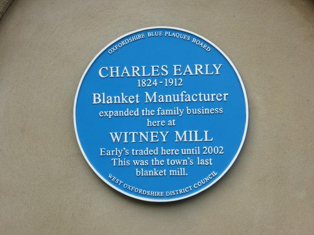 Former blanket mill - blue plaque