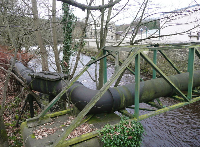 Sewer Pipe and bridge, Luddendenfoot