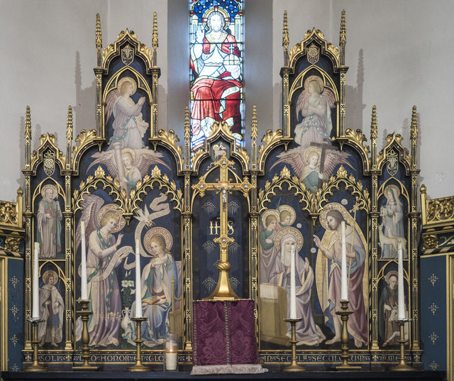 All Hallows Convent Chapel, Ditchingham - Reredos
