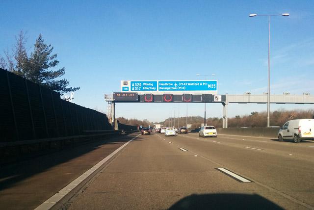 M25 clockwise