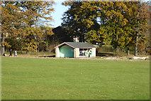 TM1542 : Shelter, Bourne Park, Ipswich by Robin Webster