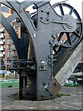 SE2933 : Canalside crane – detail by Alan Murray-Rust
