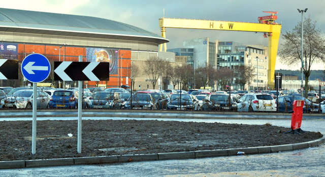 New roundabout, Queen's Quay, Belfast - December 2017(1)