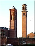 SE2933 : Two towers at Tower Works by Alan Murray-Rust
