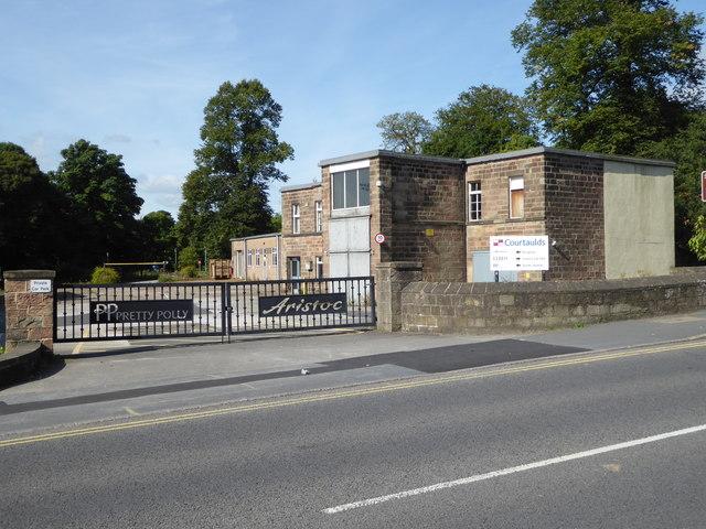 Entrance to Courtaulds textile mill, Belper