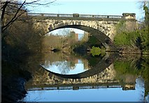 SE2933 : Old railway viaduct crossing the River Aire by Alan Murray-Rust