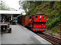 SH6706 : No.3 'Sir Haydn' at Abergynolwyn, Talyllyn Railway by John Lucas