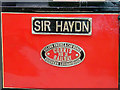SH6706 : 'Sir Haydn' name and works plates by John Lucas