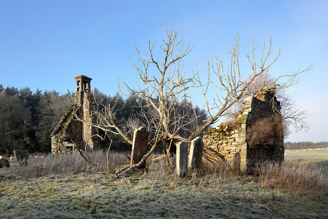 The ruined remains of Abbotrule Church