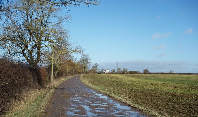 Road to Standalls Farm