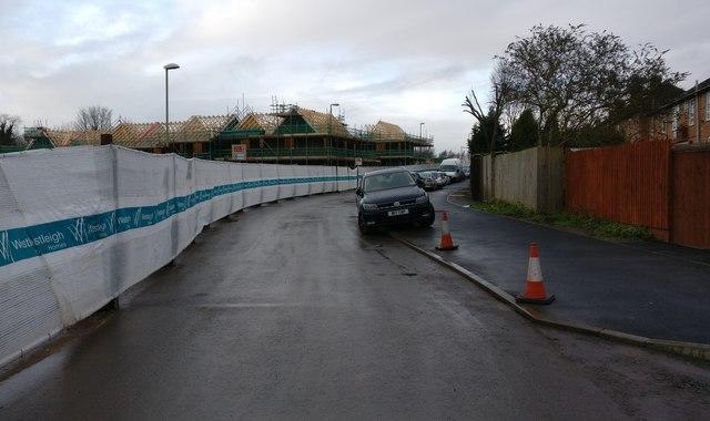 Construction along the Old Saffron Lane
