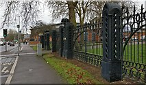 SK5802 : Gates from the former Leicester Cattle Market by Mat Fascione