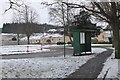 NT2639 : Bus stop and turning circle, Kingsmeadows Peebles by Jim Barton