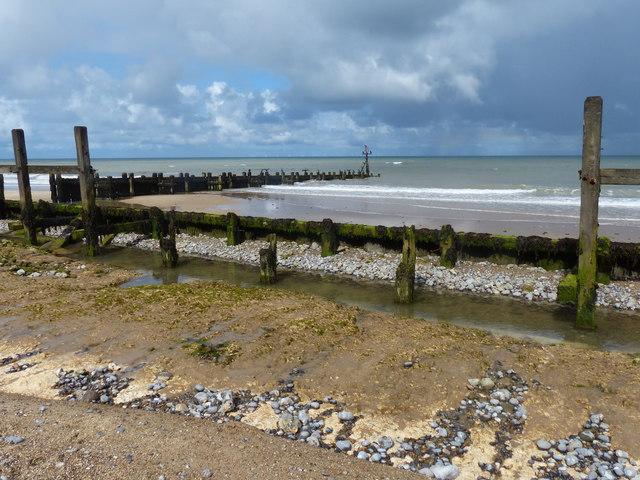 Sea defences near West Runton