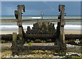 TG1743 : Groyne on the beach near West Runton by Mat Fascione