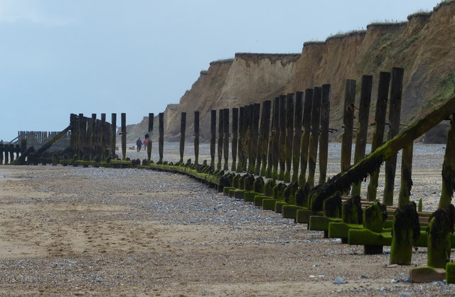 Old sea defences near Sheringham
