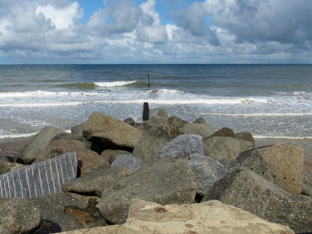 Coastal defences at Sheringham
