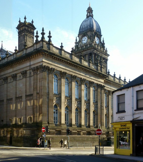 Leeds Town Hall, rear view