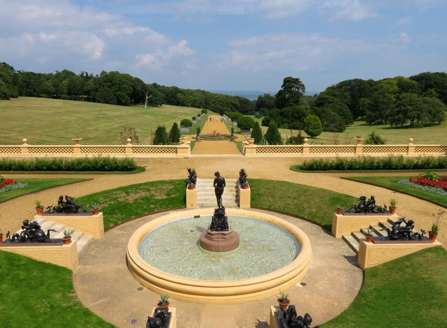 A fountain in the gardens of Osborne House