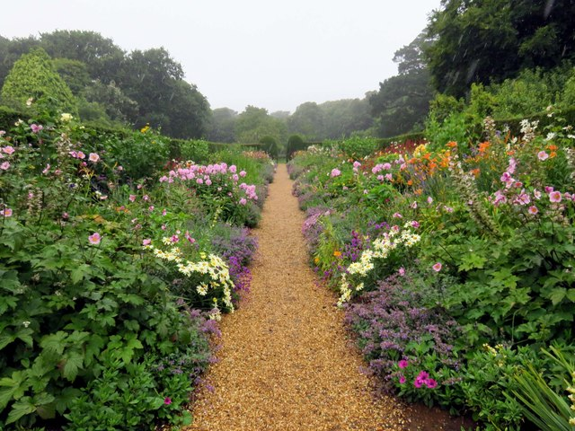 The double herbaceous borders at Mottistone Manor