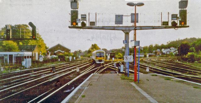 Redhill station, southward 1994