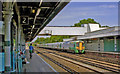 TQ2850 : Redhill station, with a Down Gatwick Express  train, 2011 by Ben Brooksbank