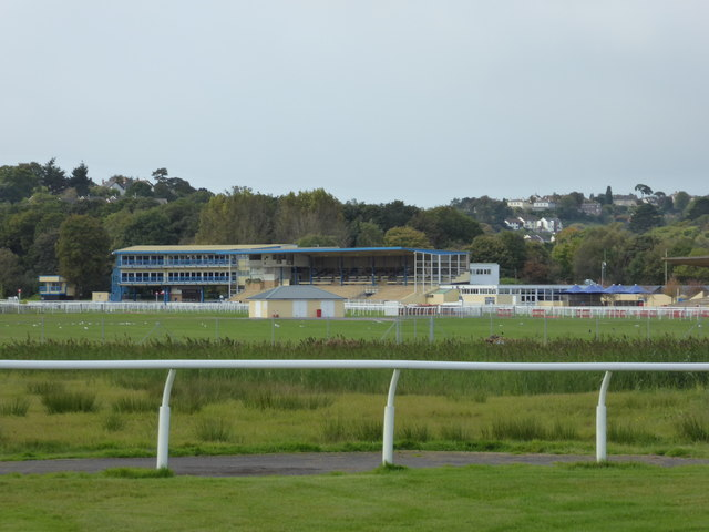 Newton Abbot Racecourse from Hackney Marshes Nature Reserve