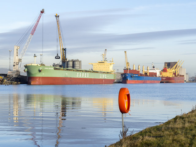Ships at Belfast