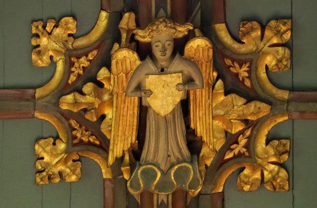 St Peter, Sudbury - Roof boss