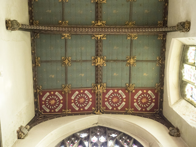 St Peter, Sudbury - Sanctuary roof