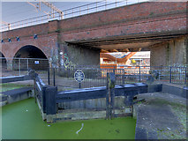 SJ8298 : Manchester, Bolton and Bury Canal, Lock #1 and Bridge #3 by David Dixon