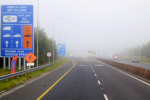 M3 Motorway approaching Grange Toll Plaza