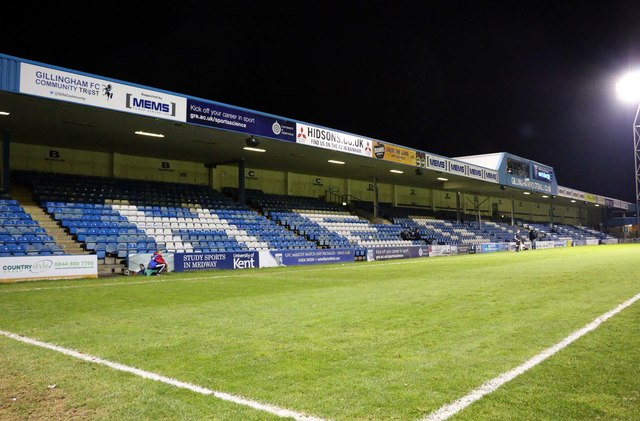 The Gordon Road Stand at Priestfield Stadium