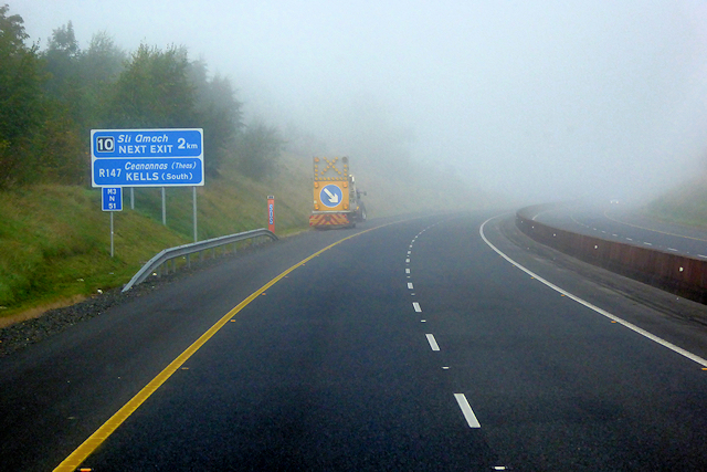 Near the end of the M3 Motorway