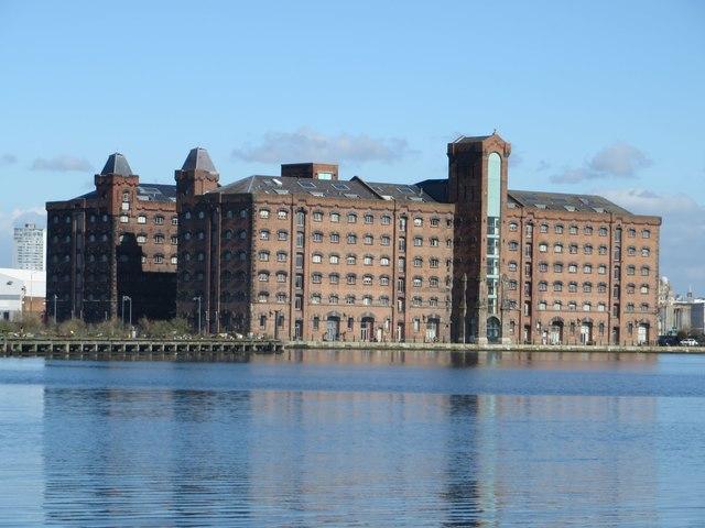Converted grain warehouses, Dock Road, Birkenhead