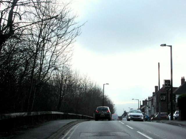 Gorsty Hill Approaching Bull & Bear Pub.